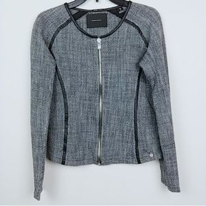 Maison Scotch | Gray Full Zip jacket blazer